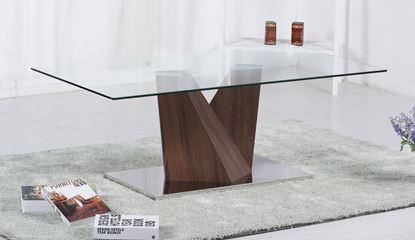 Picture of Socorro Glass Coffee Table Walnut