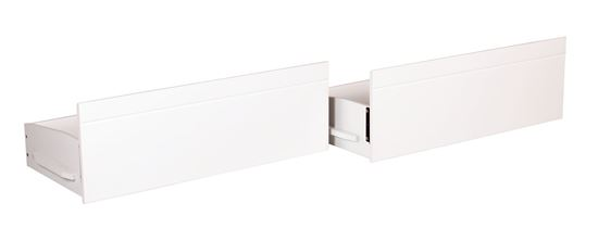 Nestware Tripoli Solid Wood Bunk Bed Drawers Pair White